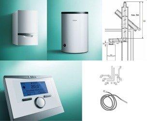 PAKIET Kocioł ecoTEC plus VC 306/5-5 + zasobnik VIH R 150 + regulator multiMATIC 700f bezprzewodowy + zestaw kominowy (wyprowadzenie w szacht) + zestaw przyłączeniowy zasobnika