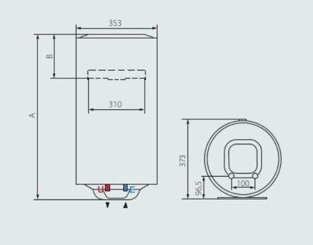 PRO1 ECO SLIM 50 V 1,8K PL EU Elektryczny pojemnościowy podgrzewacz wody