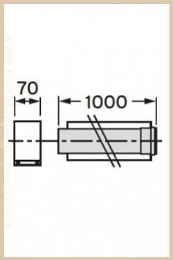 VAILLANT - Rura przedłużająca koncentryczna  80/125 1.0 m PP