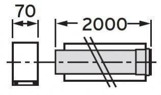 VAILLANT - Rura przedłużająca koncentryczna 80/125mm 2.0m PP